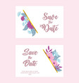 flowers wedding save date flower floral vector image vector image
