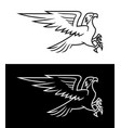 flying eagle outline silhouette vector image vector image