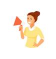 girl with loudspeaker vector image