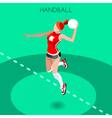 Handball 2016 Summer Games Isometric 3D vector image vector image