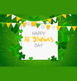 happy saint patricks day background with clover vector image
