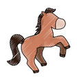 horse cute cartoon vector image