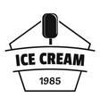 ice cream logo simple black style vector image vector image