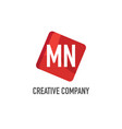 initial letter mn logo template design vector image vector image