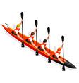 Kayak Sprint Four 2016 Sports 3D vector image vector image