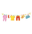 kids washing things colorful family laundry vector image