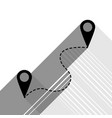 location pin navigation map gps sign vector image vector image