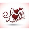 Love digital design vector image vector image