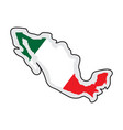 map of mexico with its flag vector image vector image