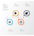 media icons set collection of power infographic vector image vector image