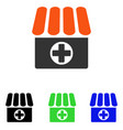 medical quadcopter flat icon vector image vector image