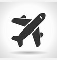 monochromatic plane icon with hovering effect vector image