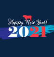 new year background with numbers and bull vector image vector image