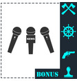 news microphone icon flat vector image vector image