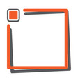 orange square frame with button for your text vector image