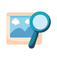 photography magnifying glass white background vector image