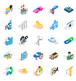 private company icons set isometric style vector image vector image