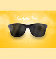 realistic sunglasses on blue background vacations vector image vector image