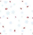 santa claus and snowflake seamless pattern vector image vector image