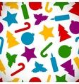 Seamless Christmas symbols vector image