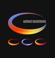 set colorful modern label logo grunge circle vector image
