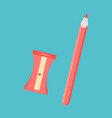 set of in realistic style sharpened pencil a vector image vector image