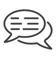 speech bubbles line icon seo and development vector image