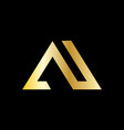 triangle business building logo vector image