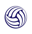 volleyball dark silhouette vector image vector image