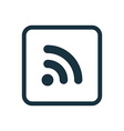 WiFi icon Rounded squares button vector image