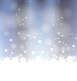 Winter Snow Background vector image vector image