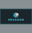 xa hexagon logo design inspiration vector image vector image