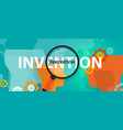 innovation vs invention concept of thinking vector image