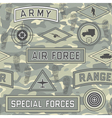 seamless military pattern 08 vector image