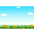 A clear blue sky vector image vector image