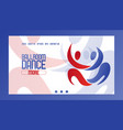 abstract dancing couple banner vector image vector image