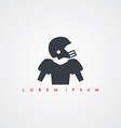 american football icon sign logotype vector image vector image