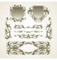 Antiquated ornate patterns vector image vector image