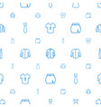 apparel icons pattern seamless white background vector image vector image