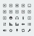 audio player mini icons set vector image