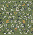 autumn seamless pattern with soft green vector image vector image