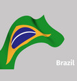 background with brazil wavy flag vector image vector image