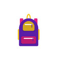 backpack line icon flat logo vector image vector image