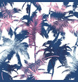 beautiful trendy seamless exotic pattern with palm vector image vector image
