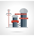 Biomass power plant flat icon vector image