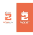 book and hands logo combination Novel and vector image vector image