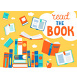 bubble read book with books vector image vector image