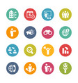 business opportunities icons - fresh colors series vector image vector image