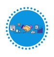 Business Partners Icon Flat Design vector image vector image