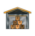 cardboard box industry icon image vector image vector image